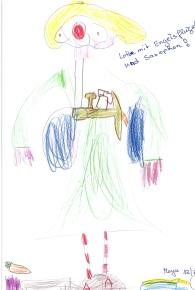Kinder zeichnung nach LOTTEs besuch