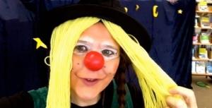 Clownin LOTTE - Hut mit Haaren